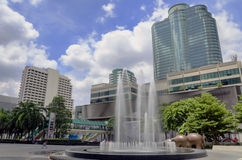Fountain in front of Central world Plaza Royalty Free Stock Image