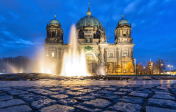 Fountain in front of the Dome of Berlin Royalty Free Stock Images