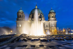 Fountain in front of the Dome of Berlin Royalty Free Stock Photos