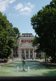 Fountain in front of Ivan Vazov National Theatre Stock Photography