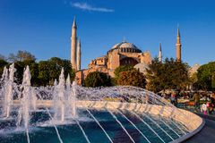 Fountain in front of the mosque, Istanbul, Turkey Stock Images