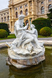 Fountain in front of the Natural History Museum in Vienna Stock Photography