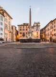 Fountain in front of Pantheon, Rome, Italy Stock Photo