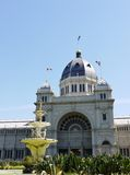 The fountain in front of the Royal Exhibition Building Royalty Free Stock Photos