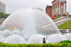 The Fountain in front of shenzhen Windows of The World door Stock Images