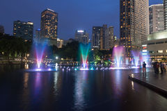 Fountain in front of Suria KLCC Stock Photo
