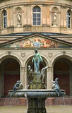 Fountain in front of the turkish baths. Karlsruhe. Germany Stock Photo