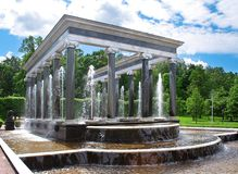 The fountain in garden. royalty free stock photos