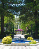 Fountain garden Stock Images