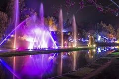 Fountain Garden. The fountain garden at night Royalty Free Stock Photography