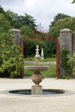 Fountain in the garden of Arundel Castle in England Royalty Free Stock Photo