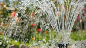 Fountain in garden close-up stock video