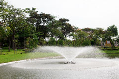 Fountain in the garden Stock Photography