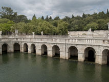FOUNTAIN GARDEN IN NIMES Stock Images