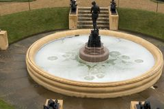 Fountain in the garden of Osborne House. NnOsborne House is a former royal residence in East Cowes, Isle of Wight, United Kingdom. The house was built between stock images