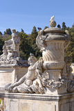 The fountain garden statues, nimes, france Stock Photography