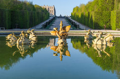 Fountain in the Garden of Versailles. France royalty free stock image