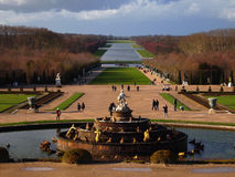 Fountain in the Garden of Versailles Palace Stock Image