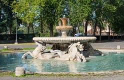 Fountain in Garden of Villa Borghese in Rome Royalty Free Stock Photos