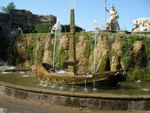 Fountain in garden at Villa d'Este Stock Image