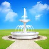 Fountain In Garden Vintage Composition Stock Image