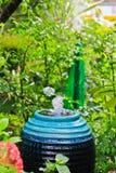 Fountain in the garden Stock Photos