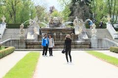 Fountain in gardens in Cesky Krumlov Stock Photography