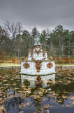 Fountain at gardens of La Granja de san Ildefonso. Royalty Free Stock Photography