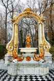 Fountain at gardens of La Granja de san Ildefonso. Stock Image