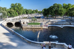 The Fountain Gardens Nimes Royalty Free Stock Image