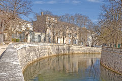 Fountain gardens, nimes, provence, france Royalty Free Stock Photography