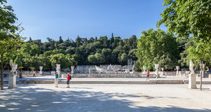 The Fountain Gardens Nimes Stock Photos