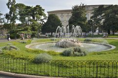 Fountain in gardens Stock Photography