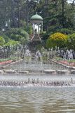 Fountains at Vlilla Ephrussi de Rothschild royalty free stock image