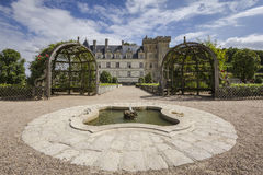 Fountain in the gardens of Villandry Royalty Free Stock Image