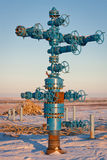 Fountain gas fittings natural gas production Royalty Free Stock Photos