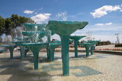 Fountain in Gdynia - Poland. Beautiful Fountain in Gdynia - Poland Stock Photos