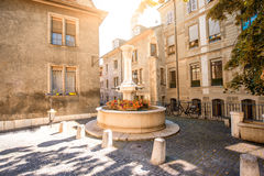 Fountain in Geneva Stock Image