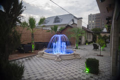 Fountain in German Village Royalty Free Stock Image