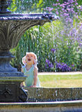 Fountain girl Royalty Free Stock Image