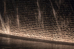Fountain glowing in the dark. Water Royalty Free Stock Photos