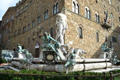 Fountain of god Neptune Stock Photos