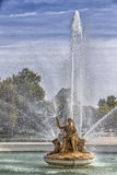 Fountain of the goddess Ceres parterre in the garden of the palace, Spain. Aranjuez, Spain - October 16, 2016: Fountain of the goddess Ceres parterre in the Stock Photo