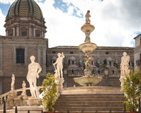 Fountain of Goddess Diana, Palermo Stock Images