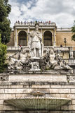 Fountain of the goddess of Rome Royalty Free Stock Image