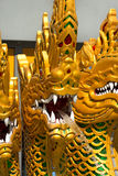 Fountain with Golden Dragons - Thailand Stock Photo