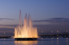 A fountain in the Golden Horn, Istanbul-Turkey Royalty Free Stock Photo