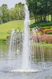 Fountain in golf course Stock Image