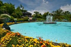 The fountain. Gora Park. Gora. Hakone, Kanagawa. Japan. Gora is a little mountain village located in Hakone, Kanagawa, Japan royalty free stock image