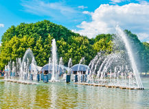Fountain in Gorky Park, Moscow Royalty Free Stock Photography